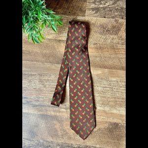 Brooks Brothers Silk Pineapple Design Tie